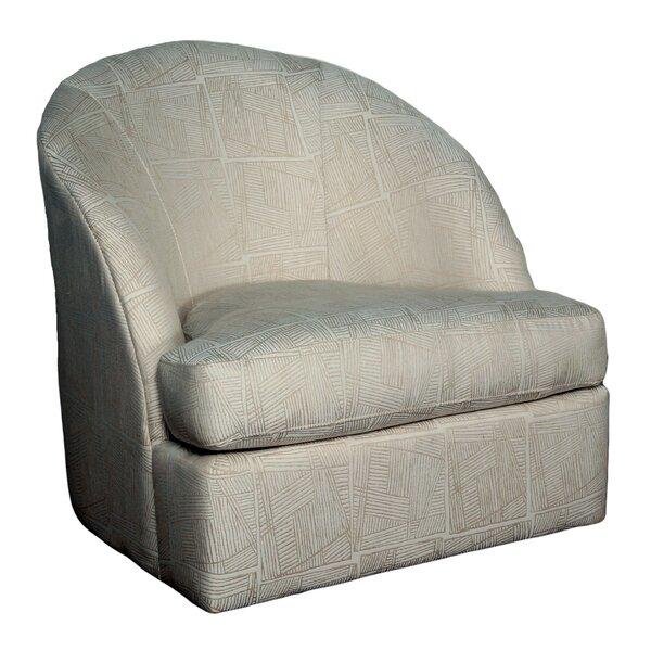 Bauhaus Wexford Lithograph Sand Swivel Barrel Chair | Wayfair
