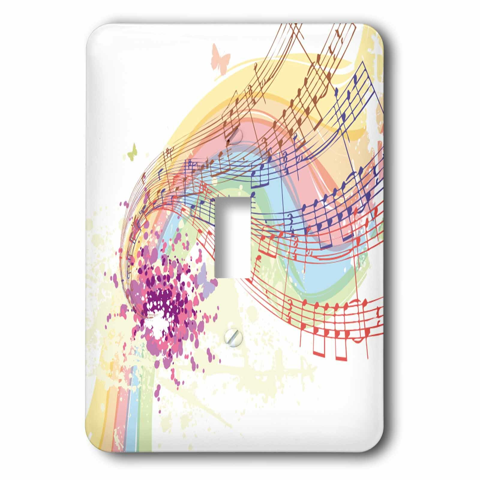3drose Musical Notes Flourish 1 Gang Toggle Light Switch Wall Plate Wayfair
