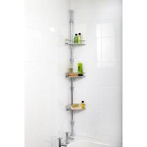Corner Metal Adhesive Mount Shower Caddy