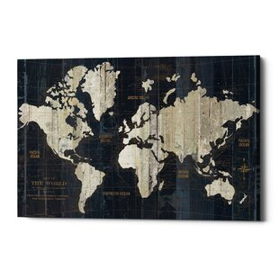 World map wall art old world map graphic art print on canvas gumiabroncs Choice Image