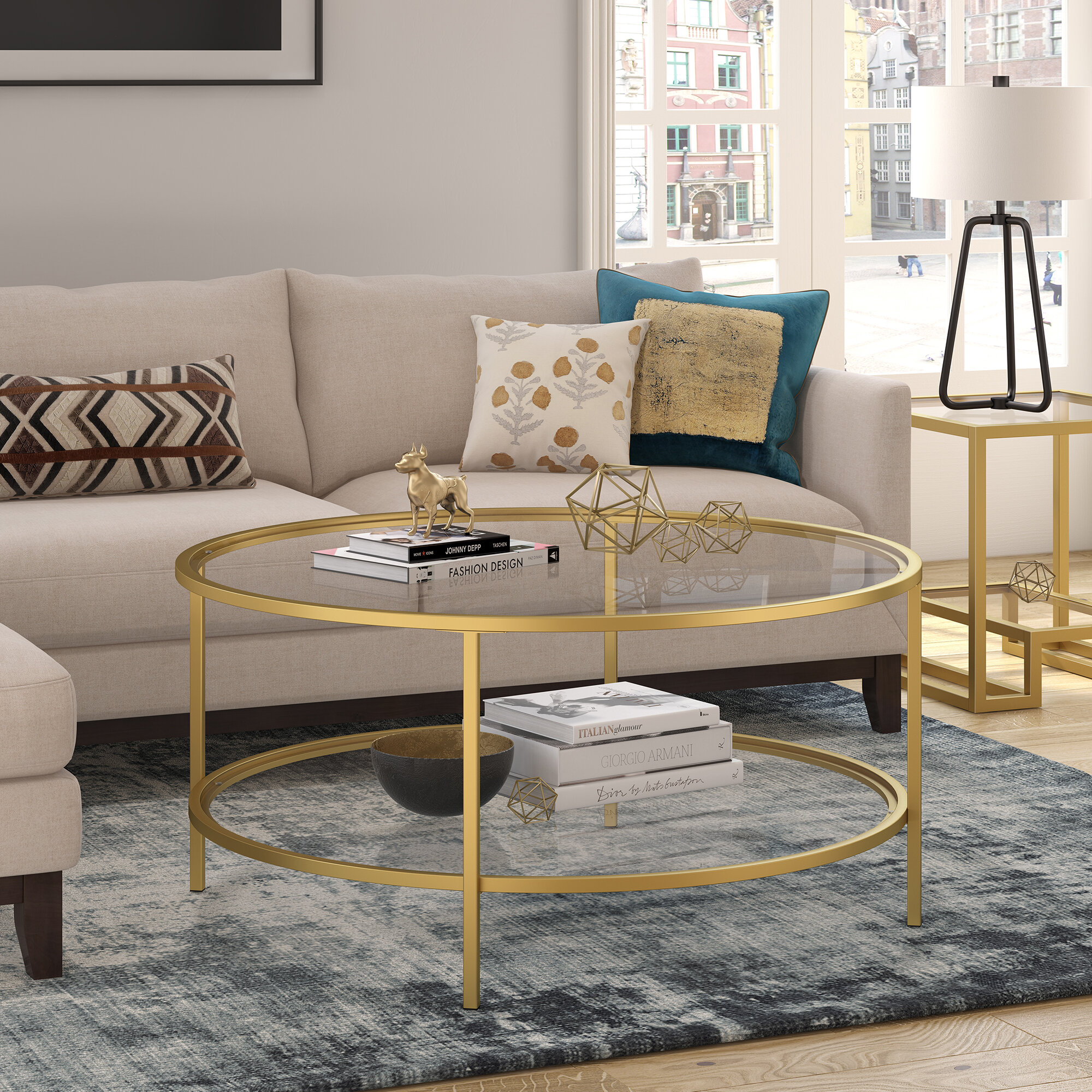Gold Round Coffee Tables Free Shipping Over 35 Wayfair