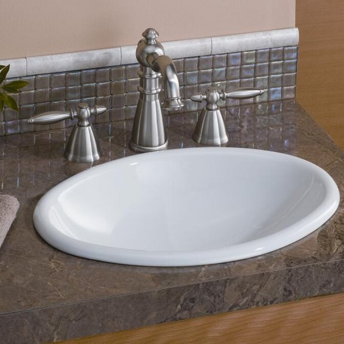 CheviotProducts Mini Vitreous China Oval Drop In Bathroom Sink