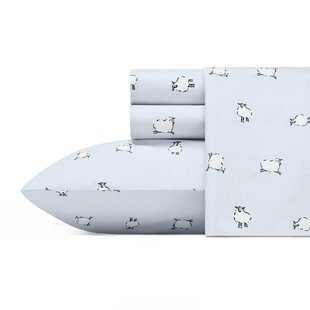 Bentley Sheep 200 Thread Count 100% Cotton Percale Sheet Set