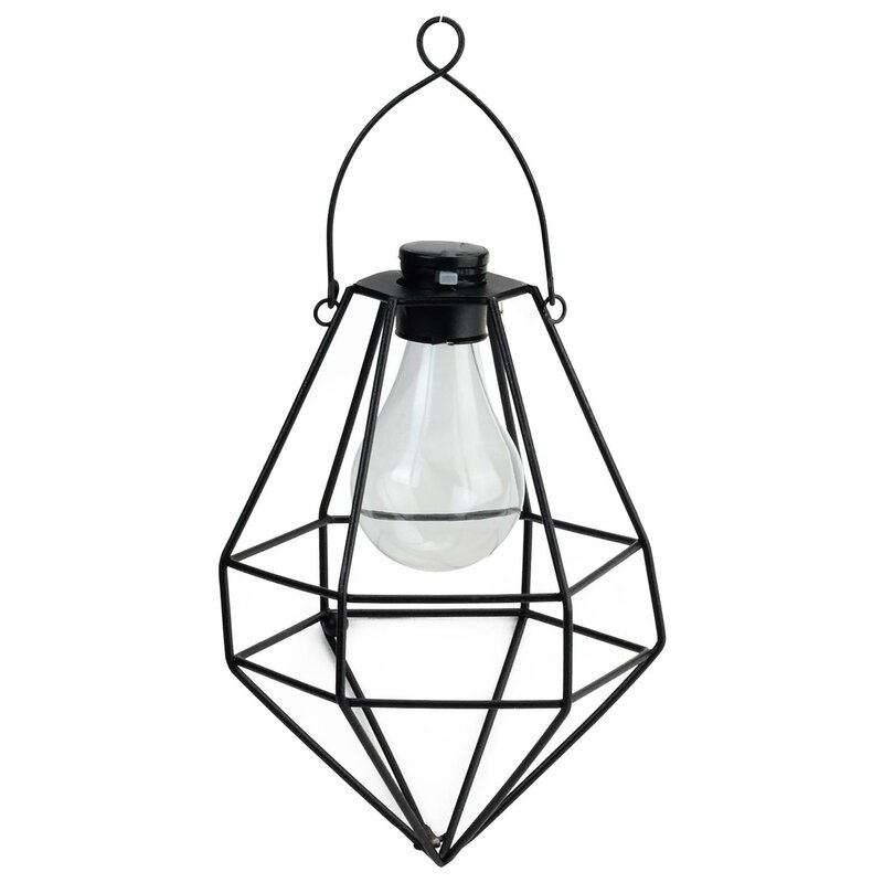 Wilson Diamond Solar Powered 1 Light Led Outdoor Hanging Lantern