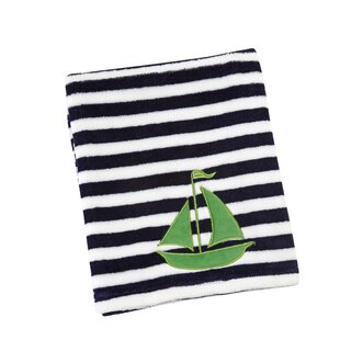 Read Reviews Jayesh Sailboat Applique Baby Blanket ByHarriet Bee
