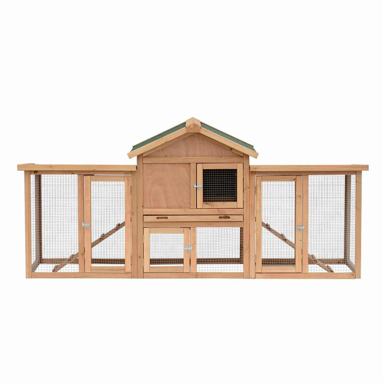 Pet Supplies Professional Sale Chicken Coop And Run Hen House Poultry Nest Box Rabbit Hutch With A Run Pretty And Colorful