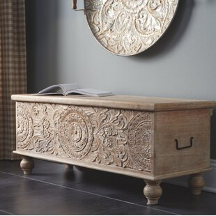 Belle Haven Wood Storage Bench by Bungalow Rose