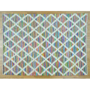 Looking for One-of-a-Kind James Handmade Kilim 9' x 12' Wool White Area Rug By Isabelline