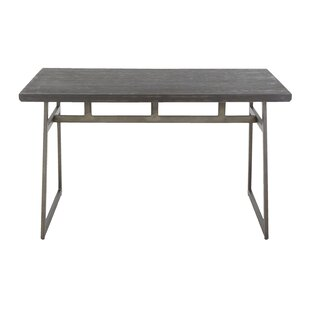 Platane Industrial Solid Wood Dining Table Brayden Studio