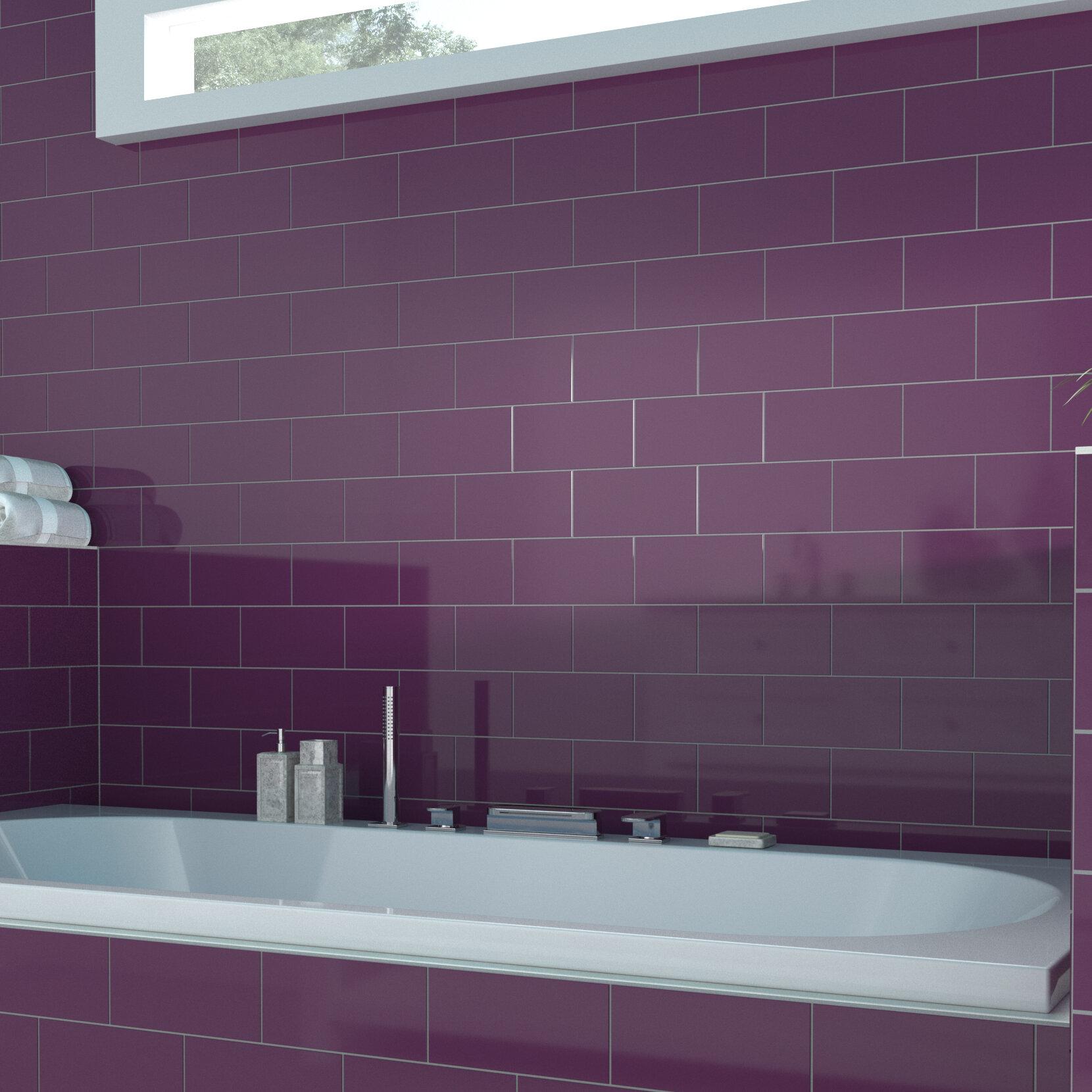 Grape Color Beat 4  x 8  Ceramic Subway Tile  Part number  WT20 WF 10408G. Pixl Color Beat 4  x 8  Ceramic Subway Tile   Wayfair