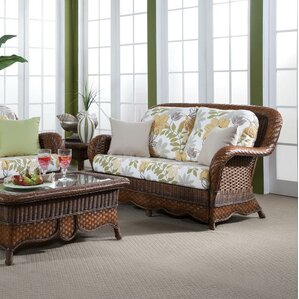 Autumn Morning Ariel Sunset Loveseat by South Sea Rattan
