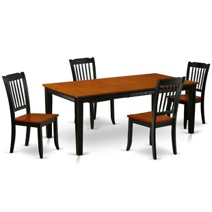 Kupang 5 Piece Extendable Solid Wood Dining Set