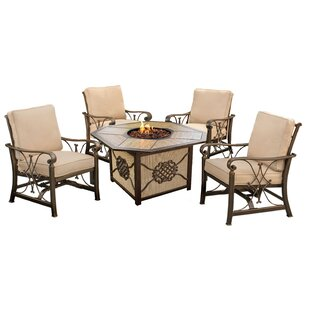 Bradenville 5 Piece Conversation Set with Cushions