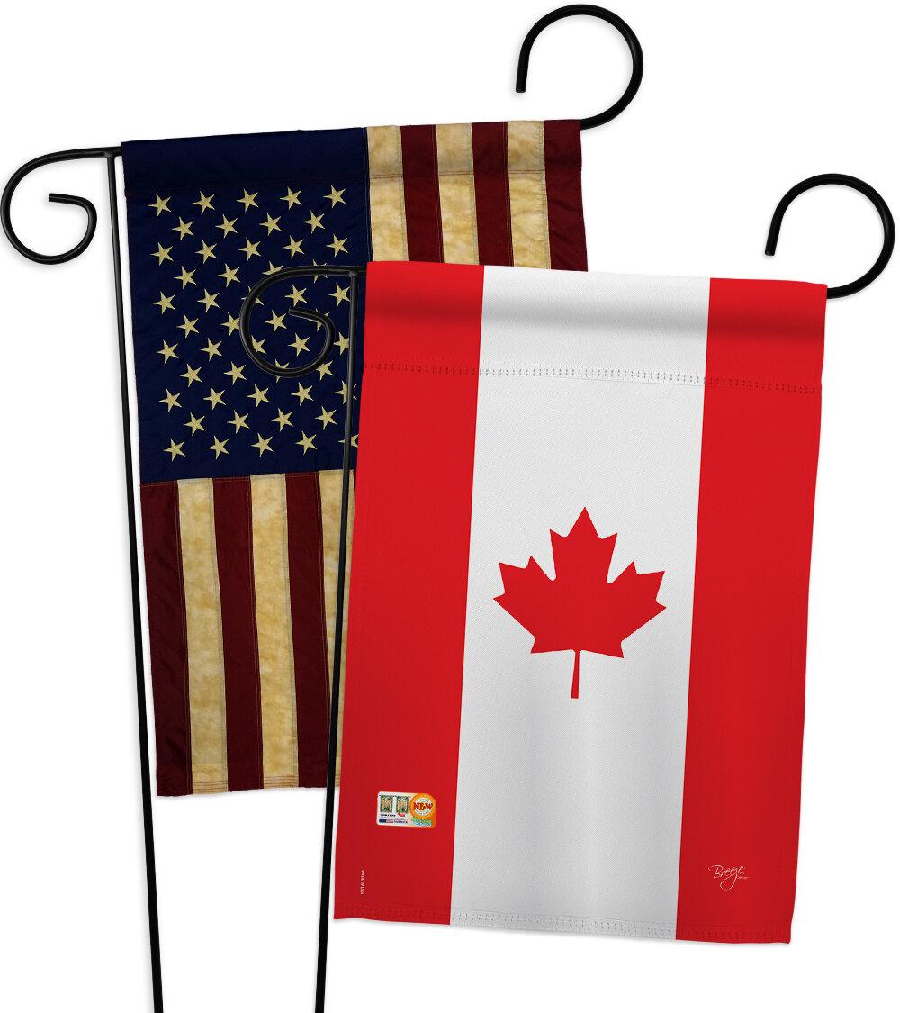 Breeze Decor Canada Impressions Decorative 2 Sided Polyester 19 X 13 In 2 Piece Garden Flag Set Wayfair