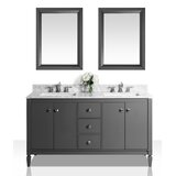 Harnish 60 Double Bathroom Vanity Set with Mirror by Charlton Home®