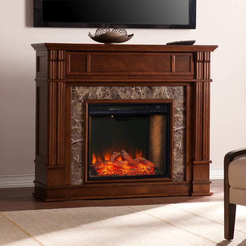 Darby Home Co Plainfield Alexa Enabled Media Fireplace