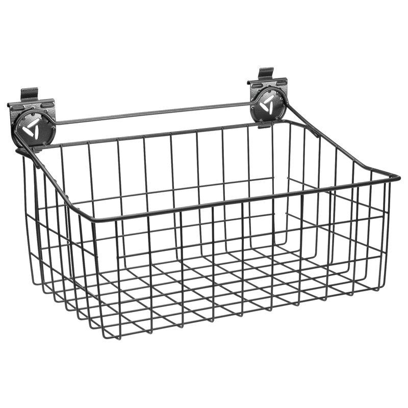 Wire Basket Garage Storage Slatwall Bins U0026 Baskets