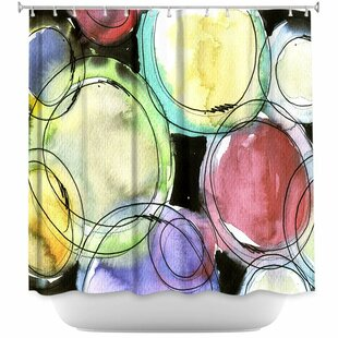 Luevano Artsy Dizzy Spell Single Shower Curtain