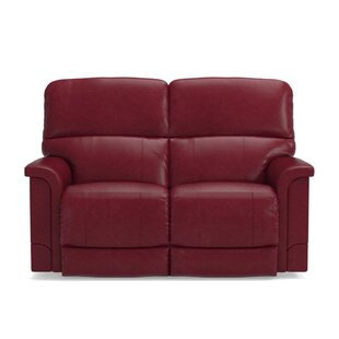 Shop Oscar Leather Reclining Loveseat by La-Z-Boy