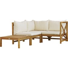 Sanora Lynwood Modular Outdoor 4 Piece Seating Group with Cushion