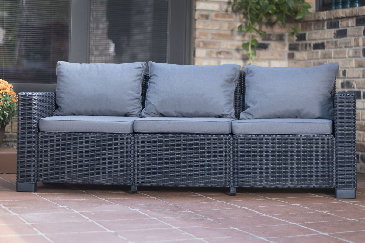 Stallcup Patio Sofa With Cushions