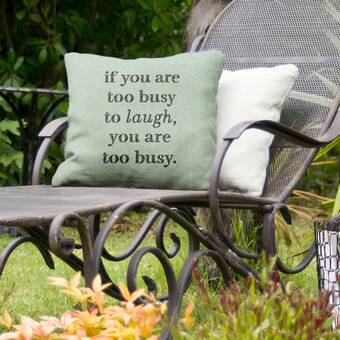 East Urban Home Make Time For Laughter Indoor Outdoor Throw Pillow Wayfair