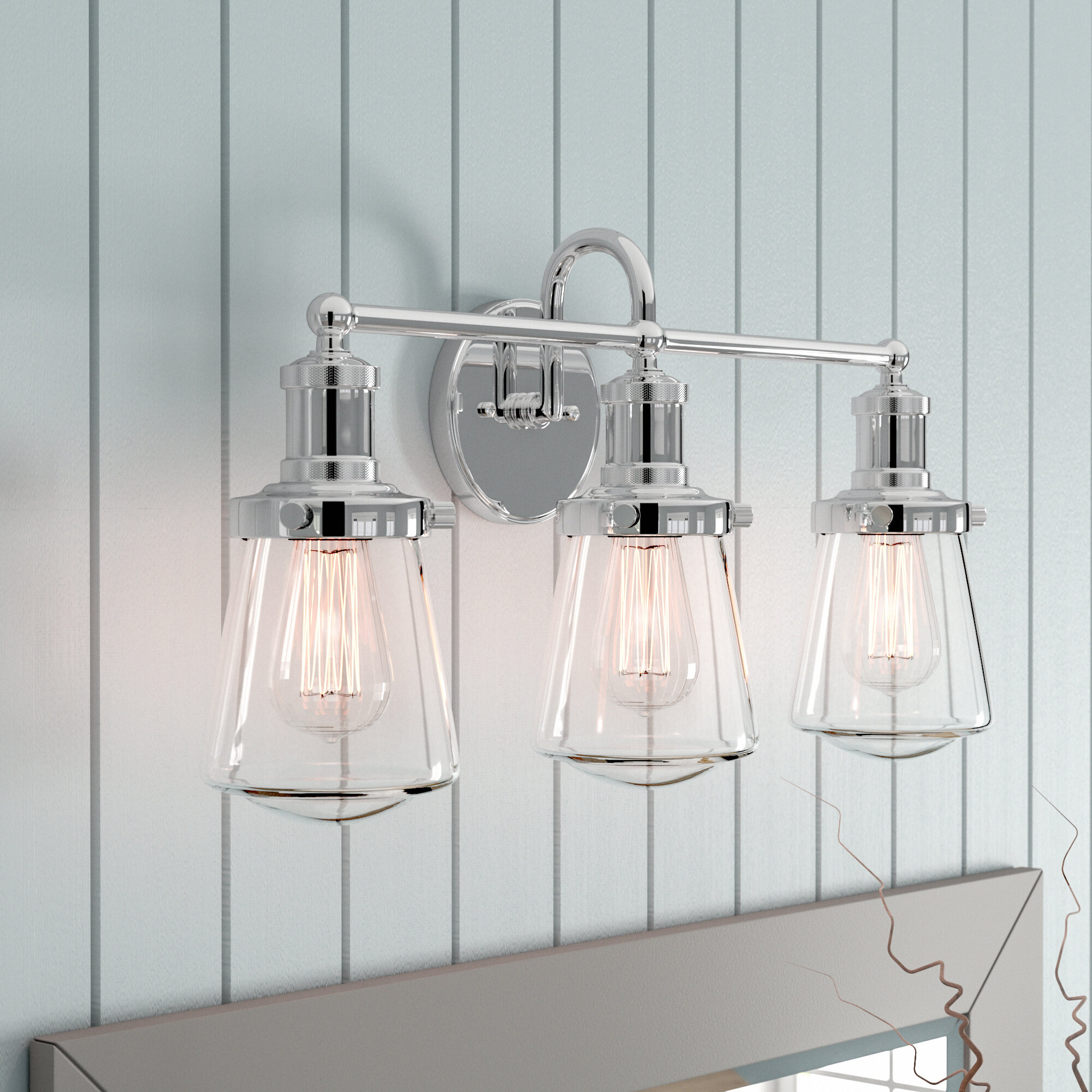 Beachcrest Home Mulvaney 3 Light Vanity Light Reviews Wayfair