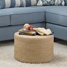 Kianna Rush Grass Coffee Table/Ottoman Beachcrest Home