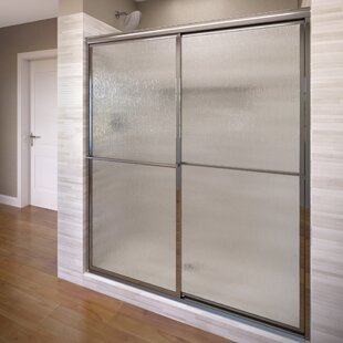 Affordable Deluxe 44 x 68 Bypass Framed Shower Door By Basco