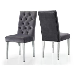 Compare prices Marshall Velvet Dining Chair (Set of 2) by Everly Quinn Reviews (2019) & Buyer's Guide