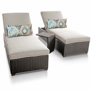 Medley Sun Lounger Set with Cushion and Table (Set of 2)