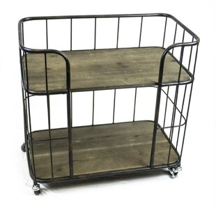 Minnick Caged Bar Cart by Williston Forge