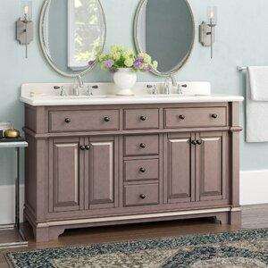 Essie 60 Double Vanity Set with Backsplash