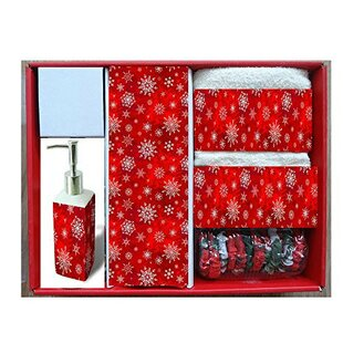Top Reviews Holiday Snow Resin Shower Curtain Set ByThe Holiday Aisle