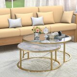 Kellan 2 Piece Coffee Table Set with Tray Top (Set of 2) by Everly Quinn