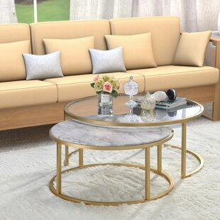 Kellan 2 Piece Coffee Table Set with Tray Top Set of 2 by Everly Quinn
