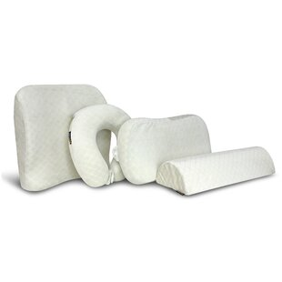 4 Piece Posture Comfort Memory Foam Pillow Set