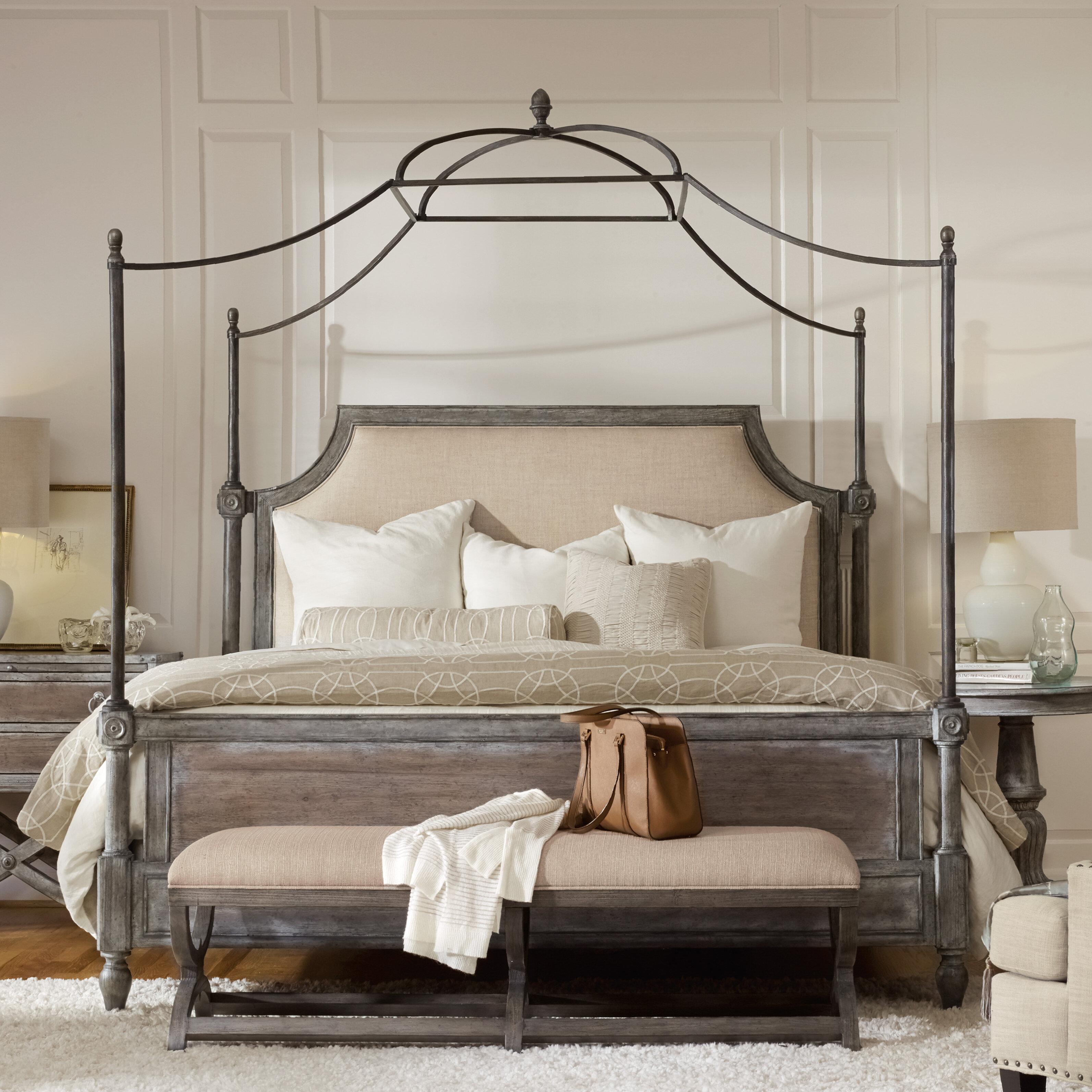 - Hooker Furniture True Vintage Upholstered Canopy Bed & Reviews