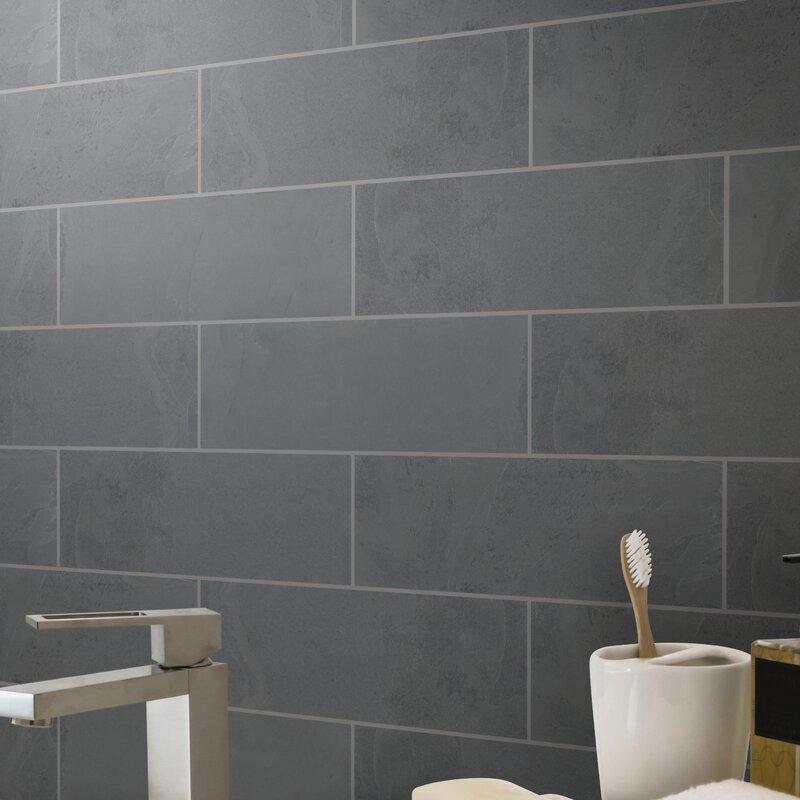 Montauk 4 X 12 Slate Subway Tile In Black