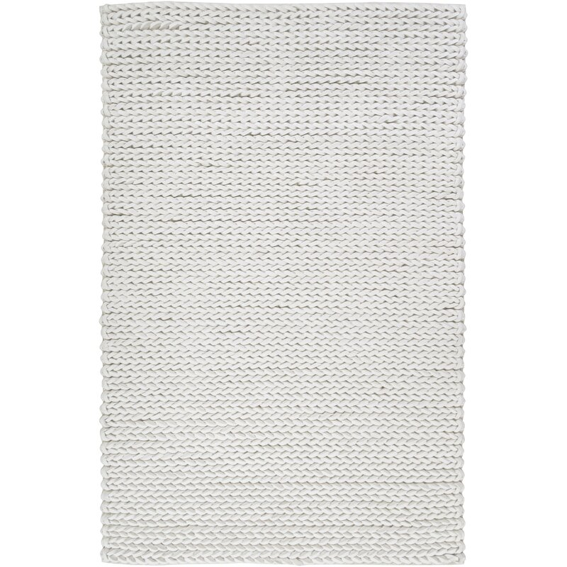 Union Rustic Mathews Handwoven Wool Off White Area Rug Wayfair
