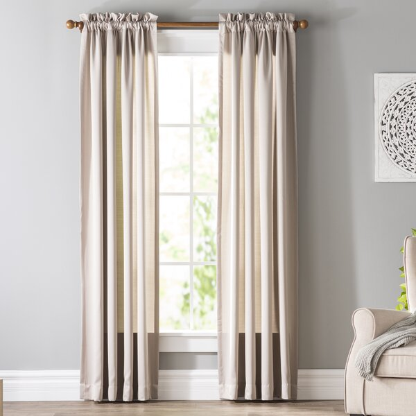 Wayfair BasicsTM Basics Solid Room Darkening Rod Pocket Single Curtain Panel Reviews