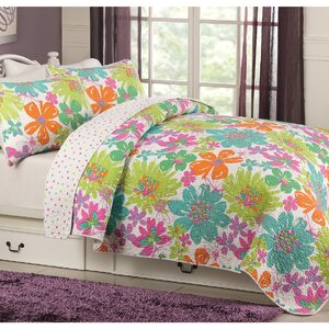 Danielle 100% Cotton Reversible Quilt Set