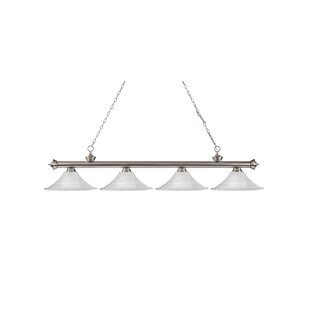 Zephyr 4-Light Cone Glass Shade Billiard Light By Red Barrel Studio