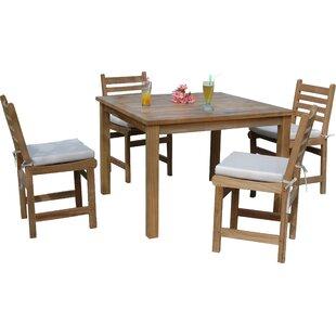 Montage 5 Piece Teak Dining Set