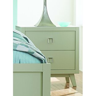 Compare prices Hagerty 2 Drawer Nightstand by Brayden Studio
