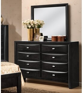 Antwerp 8 Drawer Double Dresser with Mirror