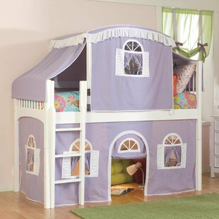 Compare prices Bonneau Traditional Twin Low Loft Bed by Harriet Bee Reviews (2019) & Buyer's Guide
