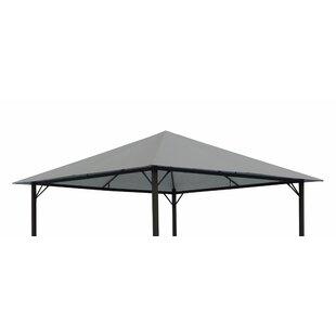 Ersatzbezug Ersatz Dach Ersatzdach Dachbezug Pavillondach braun PVC Beschichtung