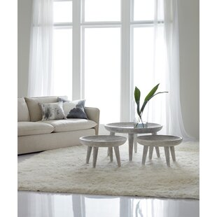Melange Coffee Table with Nested Stools and Tray Top