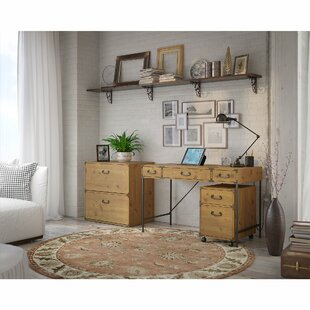Ironworks Desk, Storage and Filing cabinet Set by Kathy Ireland Home by Bush Furniture